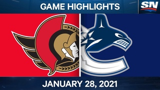 NHL Game Highlights   Senators vs. Canucks - Jan. 28, 2021