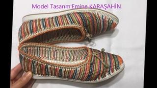 Osmanlı tarzı Otantik Örgü Babet Yapımı#Knitting Shoes 1.BÖLÜM