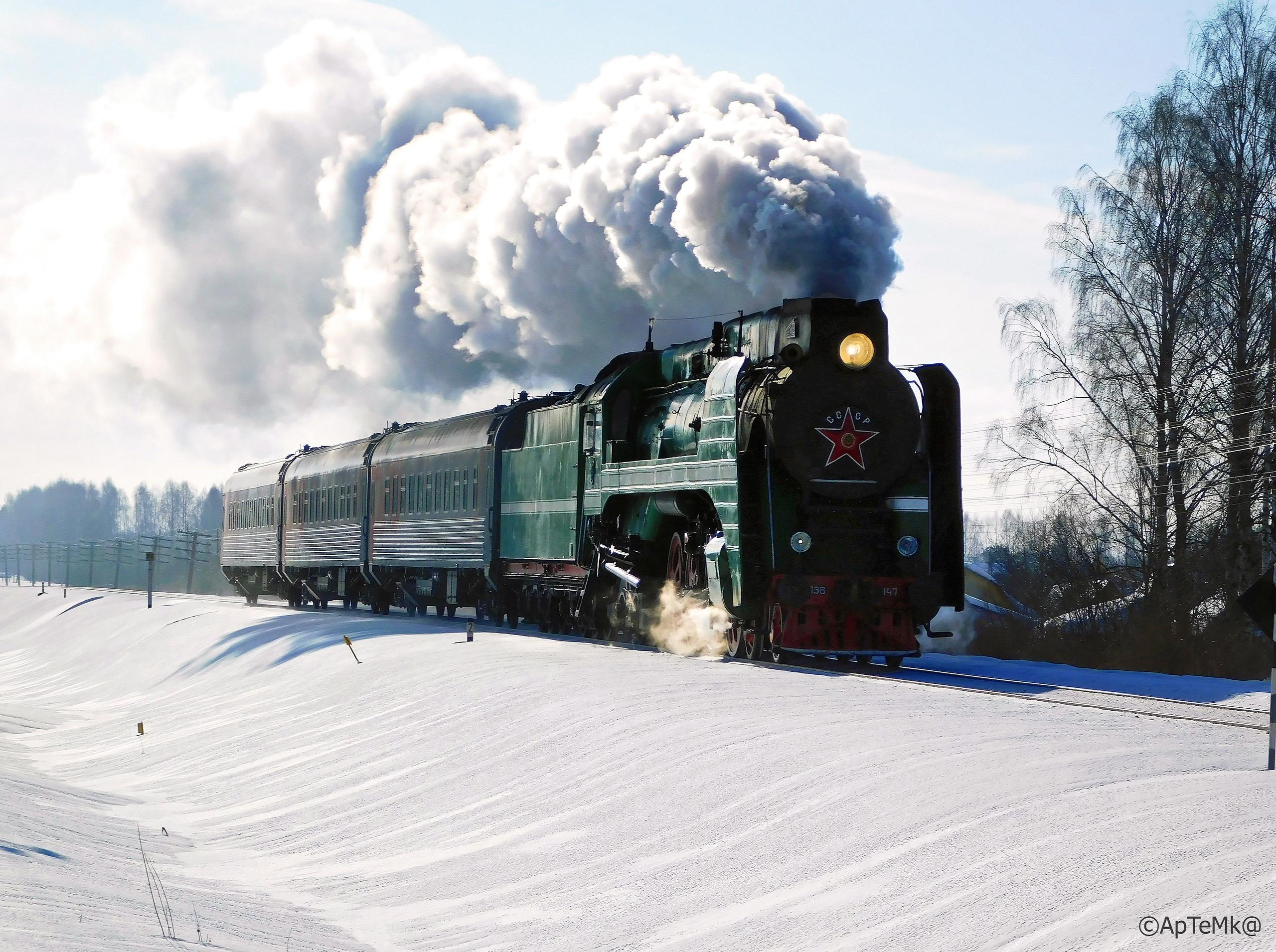 Ретропоезд (Паровоз П36)