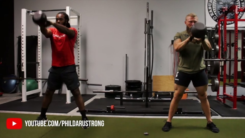 MMA Kettlebell Workout for Knockout and Power Endurance ft Phil Daru