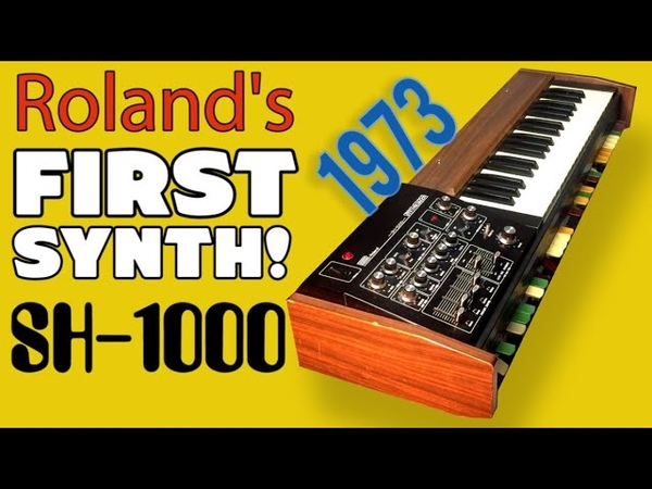 ROLAND SH 1000 Analog Synthesizer 1973 HD DEMO