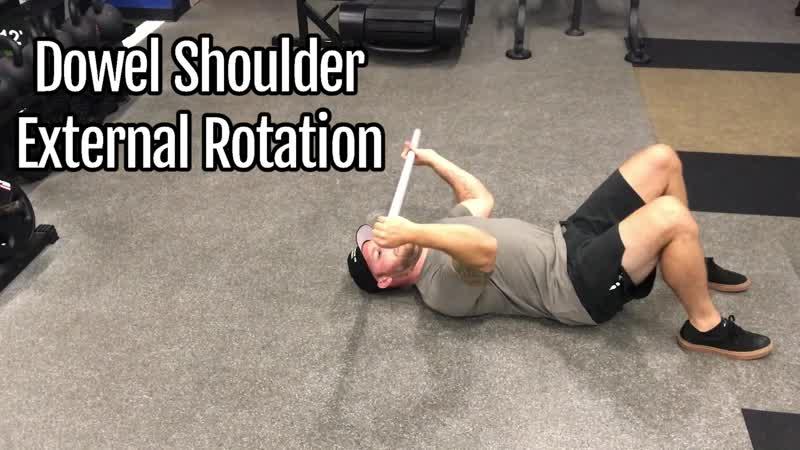 2.Dowel Shoulder Passive External Rotation