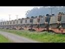 Trem ALL transportando Blindados M113 do Exército Brasileiro chegando em Araucária - PR