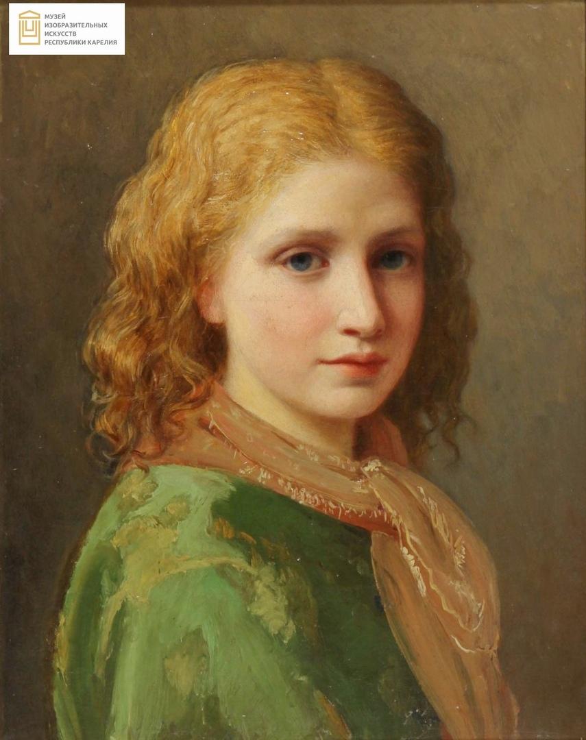 М.П. Боткин «Женский портрет». Из фондов Музея изобразительных искусств Карелии