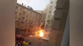 В Челябинске на территории поликлиники при горбольнице взорвались кислородные баллоны.