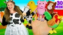 Farm Animals Finger Family and more Animals Songs Finger Family Collection - Learn Animals Sounds