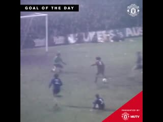 Iconic goal, iconic celebration this was George at his very Best ️ - - MUFC GoalOfTheDay