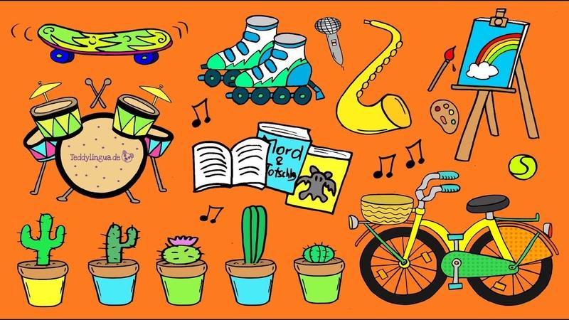 Deutsch lernen Hobbys und Freizeit German for children and beginners hobbies