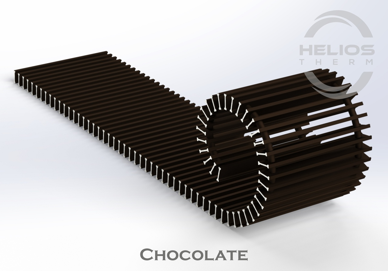 Решетка конвектора Helios Therm Chocolate