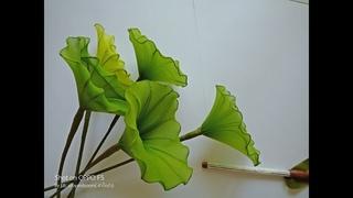 Мастер-класс по цветам из капрона: Листья Лотоса