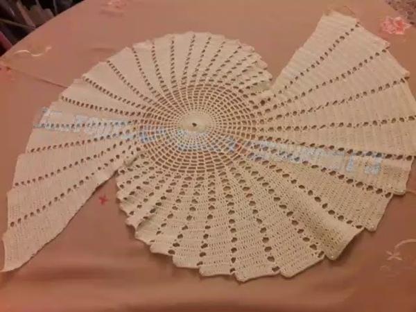 Скатерть салфетка спираль крючком Мастер класс Spiral Centro caminho de mesa em croche