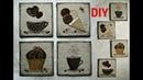 Берём гофро-картон, кофейные зёрна и4 кофейных мини-панно