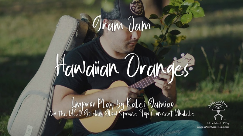 4K Hawaiian Oranges Improv Play by Kalei Gamiao on the aNueNue UC10 Color Series Ukulele