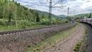 Вид из окна вагона поезда №007Н. Прибытие в Красноярск. Сибирь