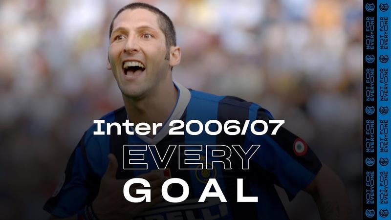 EVERY GOAL INTER 2006 07 Materazzi Crespo Ibrahimovic Adriano Figo and many more ⚽⚫🔵