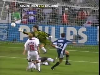 Хавьер Дзанетти - гол Англии на ЧМ-1998