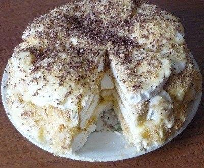 Торт из зефира с печеньем - ТОРТ ЗА ЧАС