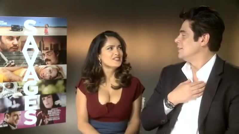 Сальма Хайек и Бенисио дель Торо в интервью для «Prime Video» (19/09/2012)