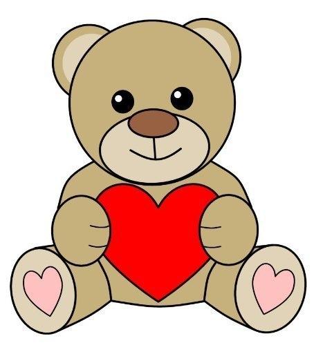 картинки мишка с сердцем как нарисовать